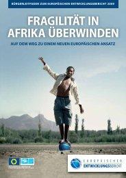 fragilität in afrika überwinden - European Report on Development