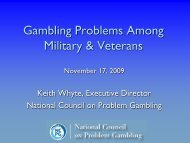 Gambling Problems Among Military & Veterans - The National ...
