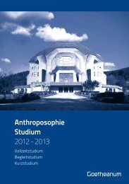 Anthroposophie Studium 2012 - Goetheanum