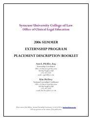 Kim McIlroy - Syracuse University College of Law