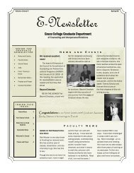 Spring 2009 Newsletter - Grace College and Seminary