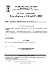 1352: acquisto farmaci da privativa industriale - Comune di Verbania