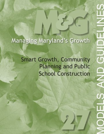 Smart Growth, Community Planning and Public School Construction