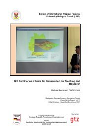 GIS Seminar as a Basis for Cooperation on Teaching and ... - UMS