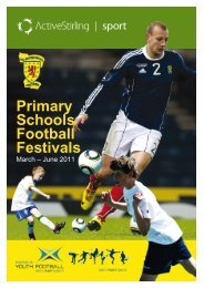 Active Stirling Primary Schools Festivals 2011 - Scottish Football ...
