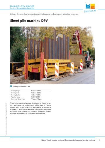 Hydraulic Waler Systems And Sheet Piles Mgf Trench