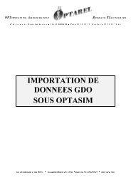 IMPORTATION DE DONNEES GDO SOUS OPTASIM - OVH.net