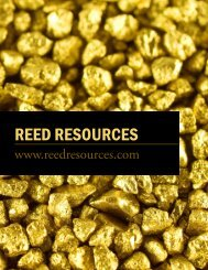 REED RESOURCES - The International Resource Journal
