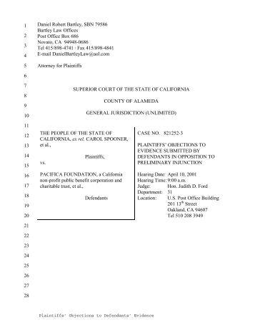 Evidence in Opposition to Preliminary Injunction - RINGNEBULA.COM