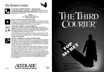 The Third Courier Manual - Virtual Apple