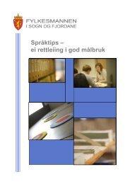 Last ned Språktips – ei rettleiing i god målbruk (pdf) - Språkrådet