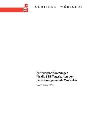 Nutzungsbestimmungen für die SBB-Tageskarten der ...
