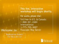 Replication Server Presentation - Sybase