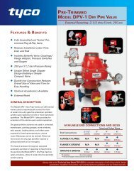 model dPV-1 dry PiPe ValVe - Tyco Fire Products