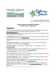 DELRAY BEACH CALENDAR OF EVENTS November 2011 ...