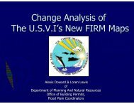 Change Analysis of The USVI's New FIRM Maps