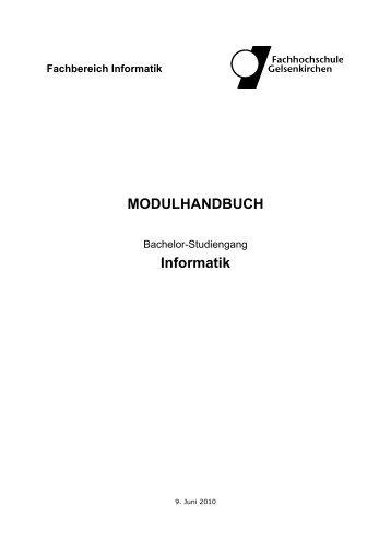 MODULHANDBUCH Informatik - Fachbereiche