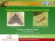 Potential Future Pests Impacting Florida - Florida Ag Expo