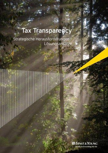 Tax Transparency - Schweiz