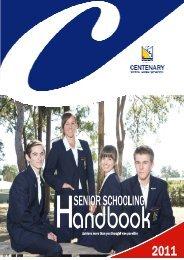 Senior Schooling Handbook - Centenary State High School ...