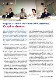 Projet de loi relative à la continuité des entreprises : Ce qui ... - Juridat