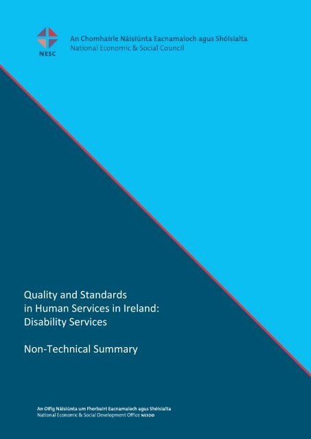 Disability Services Non-Technical Summary - National Economic ...