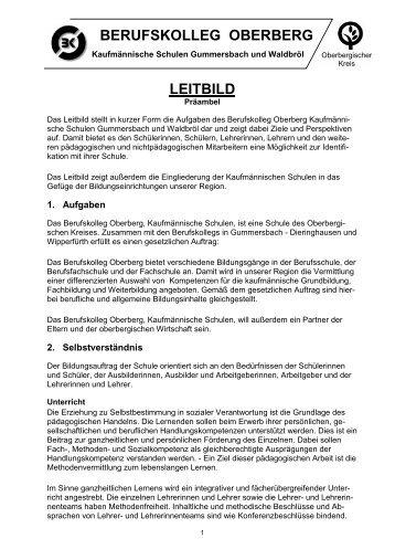 LEITBILD Präambel - Schulen in der Region Oberberg