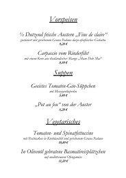 Vorspeisen Suppen Vegetarisches - Strandhotel **** .: Ostsee ...