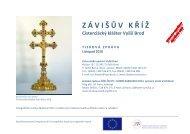 """(ZÁVI−ÙV KØÍ""""_Tisková zpráva_listopad2010) - Cisterciácký klášter ..."""