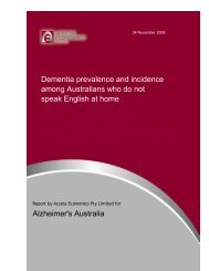 Dementia prevalence and incidence among Australians who do not ...