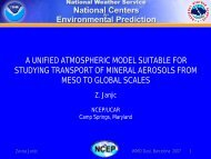 a unified atmospheric model suitable for studying transport of ...