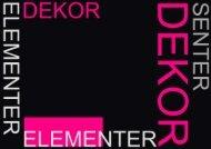 2010 dekor elementer - Butikk Service as
