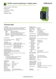 E3IM10AL20 AC/DC current monitoring in 1-phase mains Technical ...