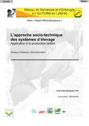 L'approche socio-technique des systèmes d'élevage - REPOL