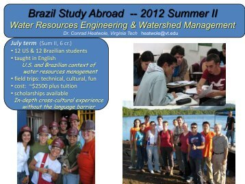 Brazil 2012 - Water Resources - Virginia Tech