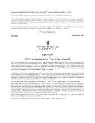 Prospectus Supplement - Power Financial Corporation