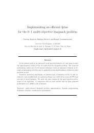 Implementing an efficient fptas for the 0–1 multi-objective knapsack ...