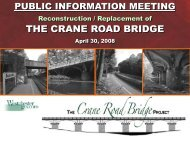 Reconstruction / Replacement of the Crane Road Bridge