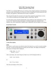JUMA TRX-2 Operating Manual 5B4AIY Firmware ... - Nikkemedia.fi