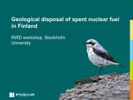 Geological disposal of spent nuclear fuel in Finland