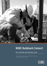 Current Buildmark Connect policy - NHBC Home