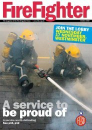 October - Fire Brigades Union