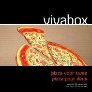 pizza voor twee pizza pour deux - Vivabox
