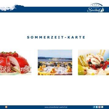 SOMMERZEIT-KARTE - Strandhotel Seehof