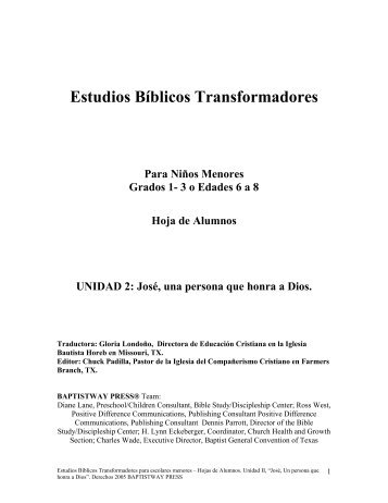 Estudios Bíblicos Transformadores - BaptistWay Press