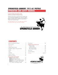 Springfield armory 1911-a1 pistols operation and safety manual