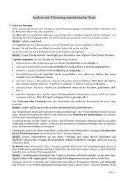 analyse und erörterung eines expositorischen textes - Zentrales ...