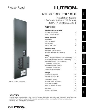 English/Spanish/German/French/Chinese/Portuguese ... - Lutron