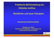 Praktische BZ-Einstellung bei Diabetes mellitus Richtlinien und ...