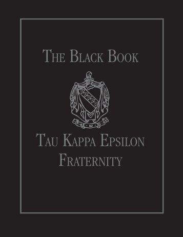 THE BLACK BOOK TAU KAPPA EPSILON FRATERNITY